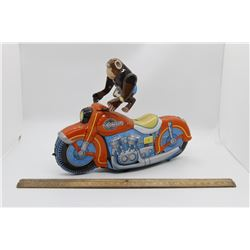 Tin friction powered toy reproduction box