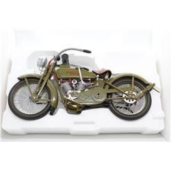 1917 Harley Davidson military drab motorcycle Model F 1:6 Box