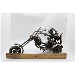 "Metal Motors Collectible 12"" chopper female Box"
