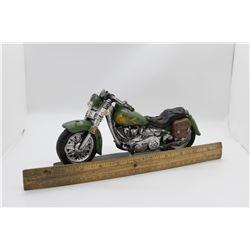 Green plaster cast motorcycle Box *Broken handlebar*