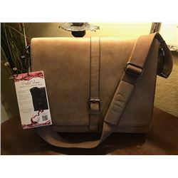 Laptop Messenger/ Wine Dispensing Bag with Wine