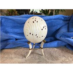 Carved Ostrich Egg