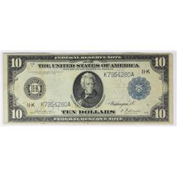 1914 $10.00 FEDERAL RESERVE NOTE DALLAS