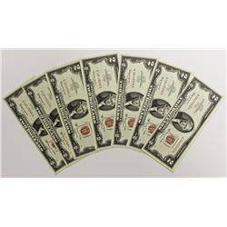 10 PCS. 1963-A $2.00 NOTES