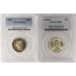 (2) PCGS GRADED WASHINGTON QUARTERS
