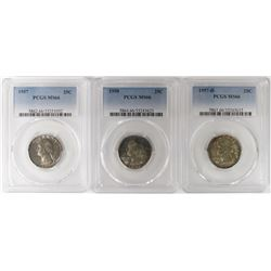(3) PCGS GRADED WASHINGTON QUARTERS