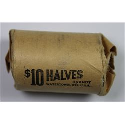 ORIGINAL ROLL OF 1964 SILVER HALF DOLLARS