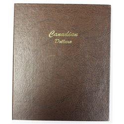 BOOK OF CANADA SILVER DOLLARS IN DANSCO ALBUM: