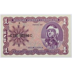 MILITARY PAYMENT CERTIFICATE SERIES 681 $1.00