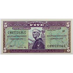 MILITARY PAYMENT CERTIFICATE SERIES 681 $5.00