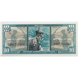 MILITARY PAYMENT CERTIFICATE SERIES 681 $10.00