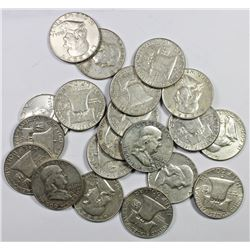 20 PCS. SILVER FRANKLIN HALD DOLLARS