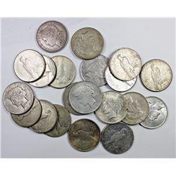 20 PCS. SILVER DOLLARS