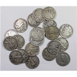 20 PCS. WALKING LIBERTY HALF DOLLAR