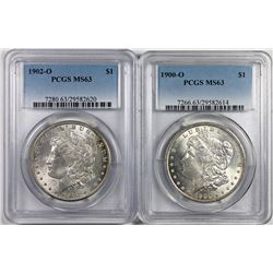 1902-O AND 1900-O MORGAN SILVER DOLLARS