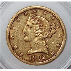 1902-S $5 GOLD LIBERTY