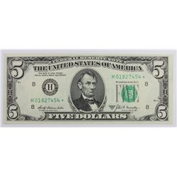 1969-A $5.00 FEDERAL RESERVE STAR NOTE