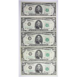 1963-A $5.00 FEDERAL RESERVE NOTE