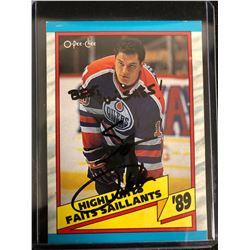 Esa Tikkanen Signed 1989 O-Pee-Chee Hockey Card