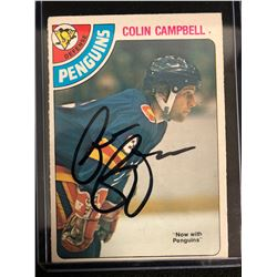 COLIN CAMPBELL SIGNED HOCKEY CARD