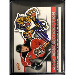 JAY BOUWMEESTER SIGNED 2004 ATOMIC HOCKEY CARD
