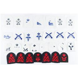 Estate Lot (30) Royal Canadian Navy Cloth Insignias