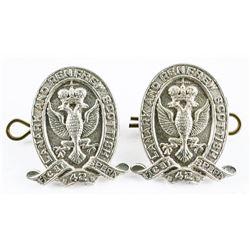 Pair 'Lanark and Renfrew' Scottish Collar Pins