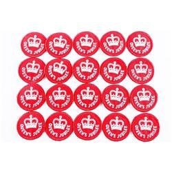 Lot (20) Queen Elizabeth II Silver Jubilee O.P.P. Crests