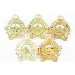 Lot (5) Lake Superior Scottish Kings Crown Cap Badges