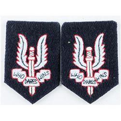 Pair Cloth Beret Badges