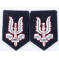 Pair Cloth Beret Badges