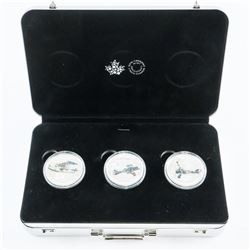 RCM 'Aircraft of The First World War' 3 .9999 Fine Silver $20.00 Coins, Collector Case. Sold Out Iss