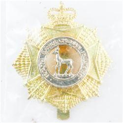 Queen's Crown - Sask. Regt. Cap Badge, Unissued, Sealed Original Package.