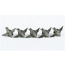 Lot (5) British 'PARA' Regt. Queens Crown Lapel Pins