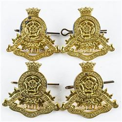Lot (4) WWII 17th Duke of York's Royal Canadian Hussar's Cap Badges