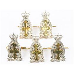 Lot (5) Queen's Crown Le Regt. De Chateaugray Arm Badges
