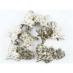Lot (5) Essex and Kent Scottish Collar Pins