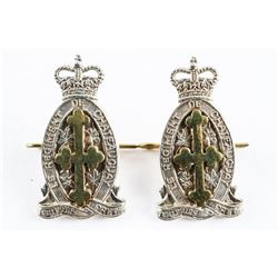 Lot (2) Pair Queen's Crown Le Regt. 'De Chateaugray' Arm Badges