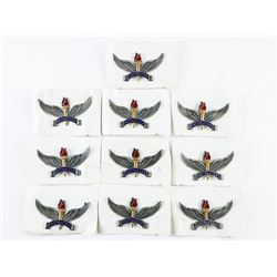 Lot (10) U.S.A.F R.O.T.C Instructor Badges, Original WM. Scully Ltd Package.