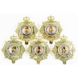 Lot (5) S. SASK Regt. Queen's Crown Cap Badges