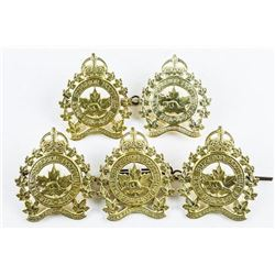 Lot (5) Lake Superior Scottish Kings - Crown Cap Badges