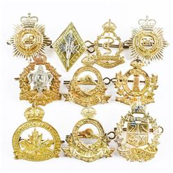 Group (10) WWII Pre 1968 Cap Badges Mixed.