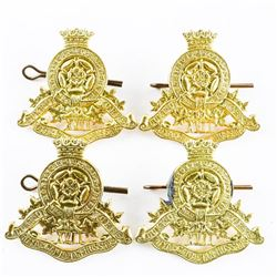 Lot (4) WWII 17th Duke of York's Royal Canadian Hussars Cap Badges