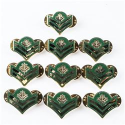 Lot (10) CANADIAN Army Corp's Rank Pin