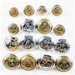 Lot (16) Military Buttons