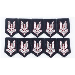 Lot (10) S.A.S. Cloth Beret Badges Scarce