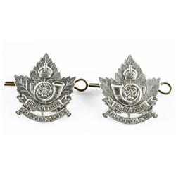 Pair WWII Era Sask. Light Infantry Collars