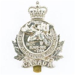 Queen's Crown Algonquin Regt. Cap Badge