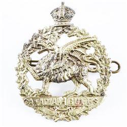 WW1 C.E.F. #198A Canadian 'Buffs' Cap Badge