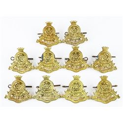 Lot (10) Prs. WWII 17th Duke of York's Royal Canadian Hussars Cap Badges